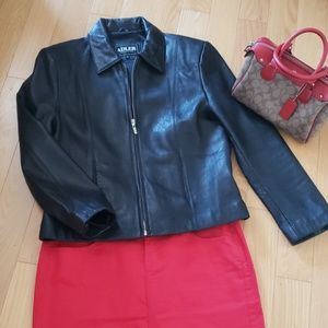 Gorgeous soft black leather jacket size L